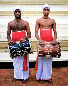 Tempeltrommler des Zahntempels in Kandy