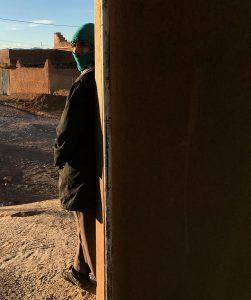 berber looking around at a motorway restaurant near the atlas mountains, near Ouarzazate