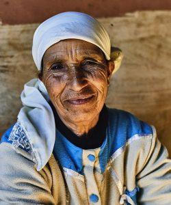 moroccan woman prepares organ oil at a organ oil cooperative